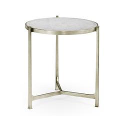 Jonathan Charles Luxe Large Églomisé & Silver Iron Lamp Table