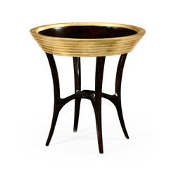 Jonathan Charles Luxe Stepped Gilded Circular Side Table