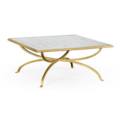 Jonathan Charles Luxe Églomisé And Gilded Square Coffee Table