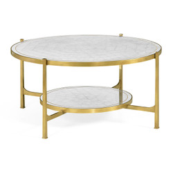 Jonathan Charles Luxe Églomisé Glass Gilded Coffee Table