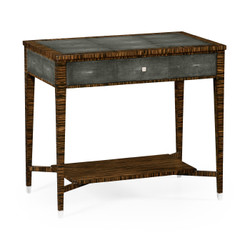 Jonathan Charles Metropolitan Faux Macassar Ebony & Anthracite Shagreen Sofa Table