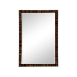 Jonathan Charles Metropolitan Art Deco Style Faux Macassar Ebony Mirror