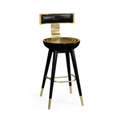 Jonathan Charles Op Art Swivel Bar Stool With Back Support