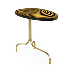 Jonathan Charles Op Art Oval Sofa Table With Tripod Base