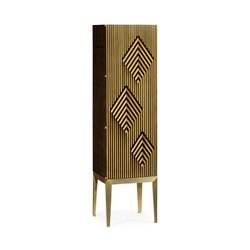 Jonathan Charles Op Art Op Art Diamond Bright Satinwood Left Drinks Cabinet