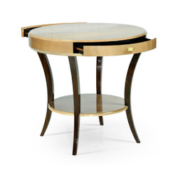 Jonathan Charles Opera Art Deco Round Side Table With Drawer