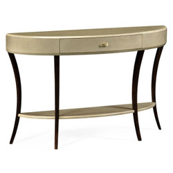 Jonathan Charles Opera Art Deco Large Demilune Console Table With Drawer