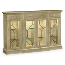 Jonathan Charles Opera Champagne Four-Door Display Cabinet