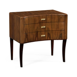 Jonathan Charles Santos Art Deco Satin Curved Chest Of Drawers
