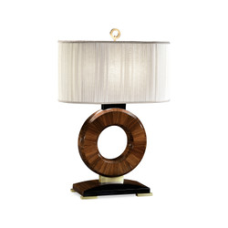 Jonathan Charles Santos Porthole Rosewood Table Lamp