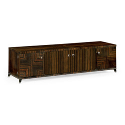Jonathan Charles Soho Macassar Ebony Tv Cabinet With White Brass Detail