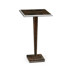 Jonathan Charles Soho Macassar Ebony Martini Table With White Brass Detail