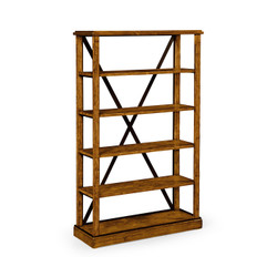 Jonathan Charles Casually Country Country Walnut Étagère Or Bookcase