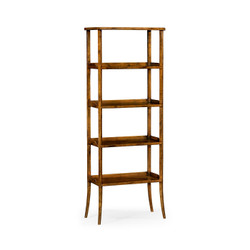 Jonathan Charles Casually Country Four-Tier Étagère In Country Walnut