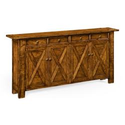 Jonathan Charles Casually Country Country Walnut Narrow Sideboard
