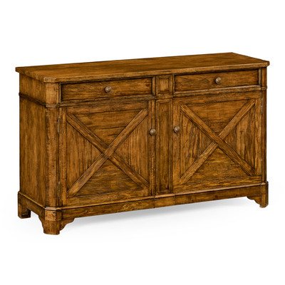 Jonathan Charles Casually Country Country Walnut Sideboard