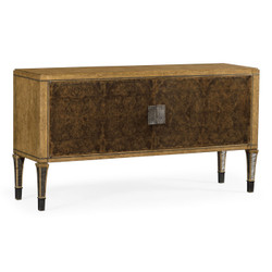 Jonathan Charles Cambridge Large Rectangular English Brown Oak & Dark Brown Burl Walnut Buffet