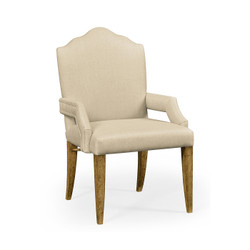 Jonathan Charles Sussex High Back Light Brown Chestnut Armchair, Upholstered In Mazo