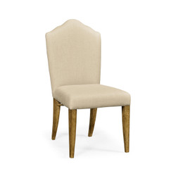 Jonathan Charles Sussex High Back Light Brown Chestnut Side Chair, Upholstered In Mazo