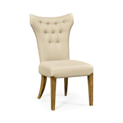 Jonathan Charles Sussex High Back Light Brown Chestnut Winged Side Chair, Upholstered In Mazo