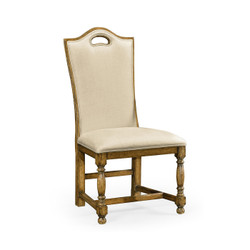 Jonathan Charles Sussex Light Brown Chesnut High Back Side Chair, Upholstered In Mazo