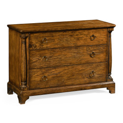Jonathan Charles Casually Country Large Country Walnut Chest Of Drawers