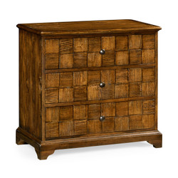 Jonathan Charles Casually Country Country Walnut Small Chest Of Drawers