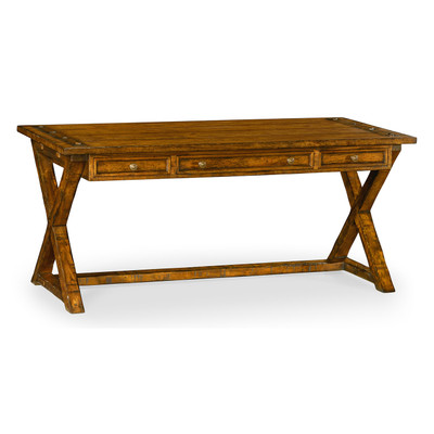 Jonathan Charles Casually Country Country Walnut Desk