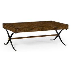 Jonathan Charles Anvil Hammered Iron Coffee Table