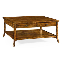 Jonathan Charles Casually Country Square Coffee Table In Country Walnut