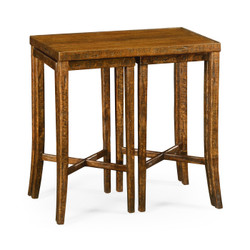 Jonathan Charles Casually Country Nesting Cocktail Tables In Country Walnut