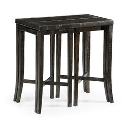 Jonathan Charles Casually Country Nesting Cocktail Tables In Dark Ale