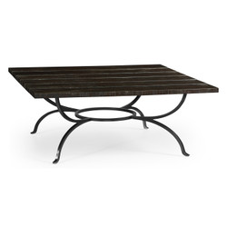 Jonathan Charles Casually Country Dark Ale Panelled Square Coffee Table