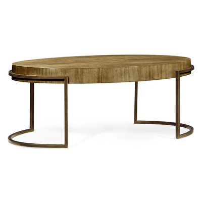 Jonathan Charles Simply Elegant Chestnut Oval Coffee Table