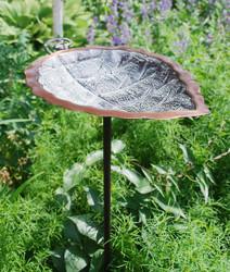 Aspen Leaf Birdbath with stand