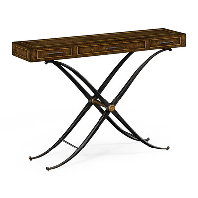 """Jonathan Charles Anvil 36"""" Hammered Iron Console"""
