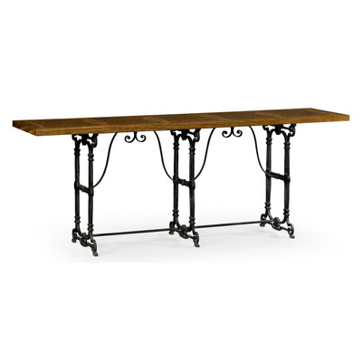 Jonathan Charles Cambridge Caledonian Daniella & Iron Console Table