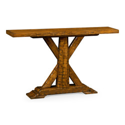 Jonathan Charles Casually Country Country Walnut Rectangular Console