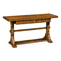 Jonathan Charles Casually Country Country Walnut Serving Table