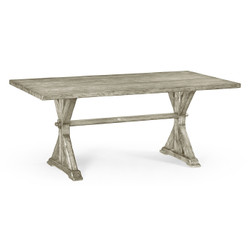 "Jonathan Charles Casually Country 72"" Solid Rustic Grey Dining Table"