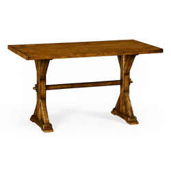 "Jonathan Charles Casually Country 54"" Solid Country Walnut Dining Table"