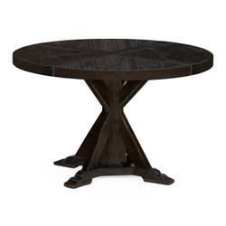 "Jonathan Charles Casually Country 48"" Dark Ale Circular Dining Table"