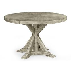 "Jonathan Charles Casually Country 48"" Rustic Grey Circular Dining Table"