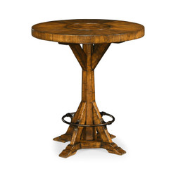 "Jonathan Charles Casually Country 36"" Country Walnut Bar Table"