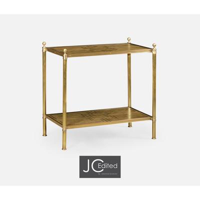 Jonathan Charles Cambridge Rectangular English Brown Oak Side Table