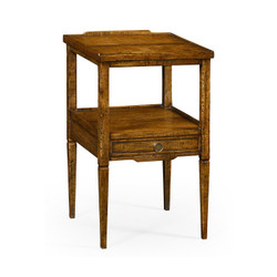 Jonathan Charles Casually Country Country Walnut Square Lamp Table With Drawer