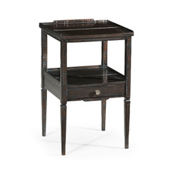 Jonathan Charles Casually Country Dark Ale Square Lamp Table With Drawer