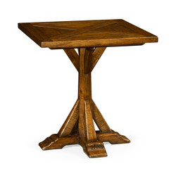 Jonathan Charles Casually Country Country Walnut Square Side Table