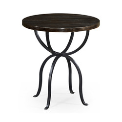 Jonathan Charles Casually Country Round Dark Ale & Iron Side Table