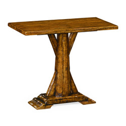 Jonathan Charles Casually Country Country Walnut Rectangular Side Table